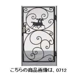 リクシル 新日軽 ディズニー門扉 角門柱式 プリンセスA型(馬) 0712 片開き 『リクシル』 ブラック