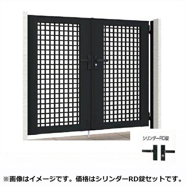 リクシル TOEX ライシス門扉7型 柱仕様 06-10 両開き 『リクシル』