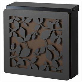 トーシン マルカート デュオ パネル:ローリエ 【アンティークで美しい、立体的なデザインパネル付】 【郵便ポスト】 ブラック
