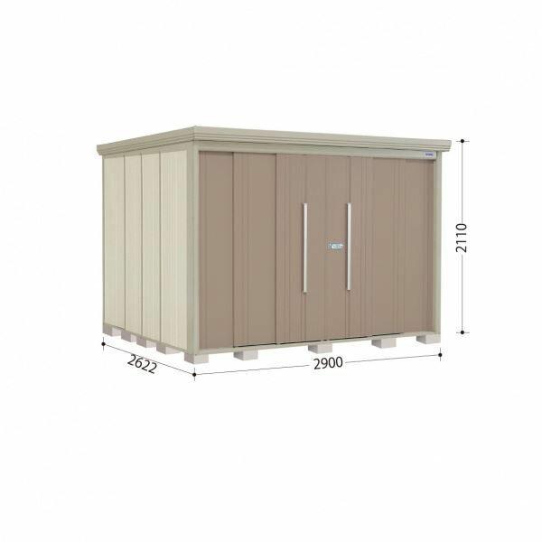 10月31日までのプレゼント企画 タクボ物置 ストックマン ND-2926Y 側面棚タイプ 一般型 標準型 +床保護マット 1セット付き 『追加金額で工事も可能 屋外用中型・大型物置』 カーボンブラウン