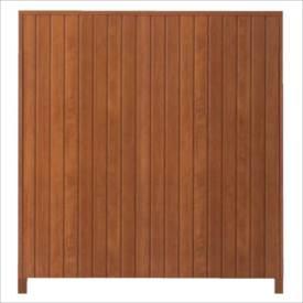 タカショー シンプルログセット2型(板貼タイプ) (縦貼・柱かくし) 片面タイプ 基本型(両柱) K-1800 【木調フェンス 柵】 K-1800