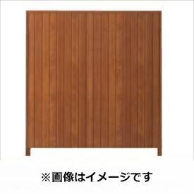 タカショー シンプルログセット4型(格子タイプ) (縦貼・柱かくし) 片面タイプ 基本型(両柱) K-1800 【木調フェンス 柵】 K-1800