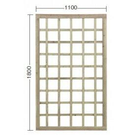 タカショー e-ウッドパネル11型 W11 (格子) 【緑化 天然木フェンス 柵】 別注塗装済み(ホワイト)