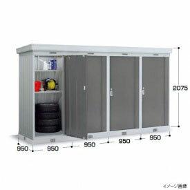 『���関�・�海�定� イナ�物置 NXN-09DL 一般・多�雪 基本棟(2連棟) 屋外用ドアタイプ連続型物置 PG