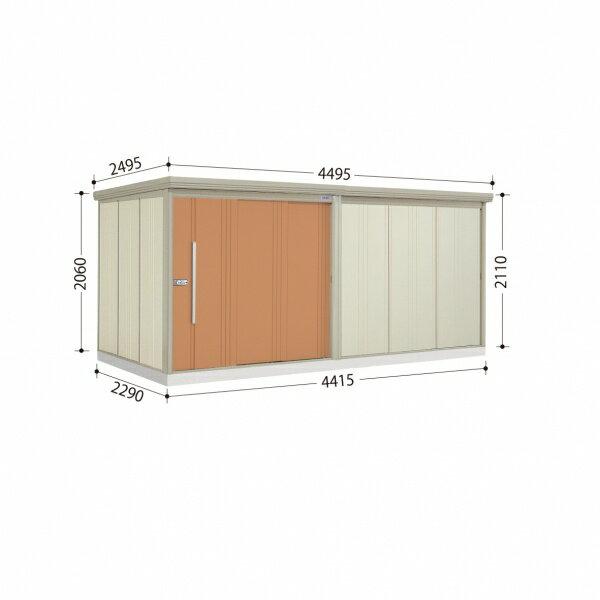 10月31日までのプレゼント企画 タクボ物置 Mr.ストックマン ND-4422 一般型 標準型 +床保護マット 1セット付き 『屋外用大型物置』 トロピカルオレンジ