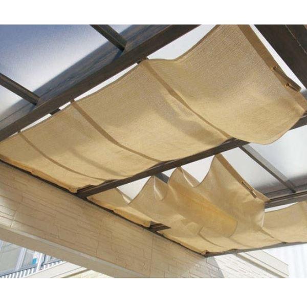 タカショー ポーチテラス オプションアイテム シンプルシェード 1間×4尺 サンドストーン