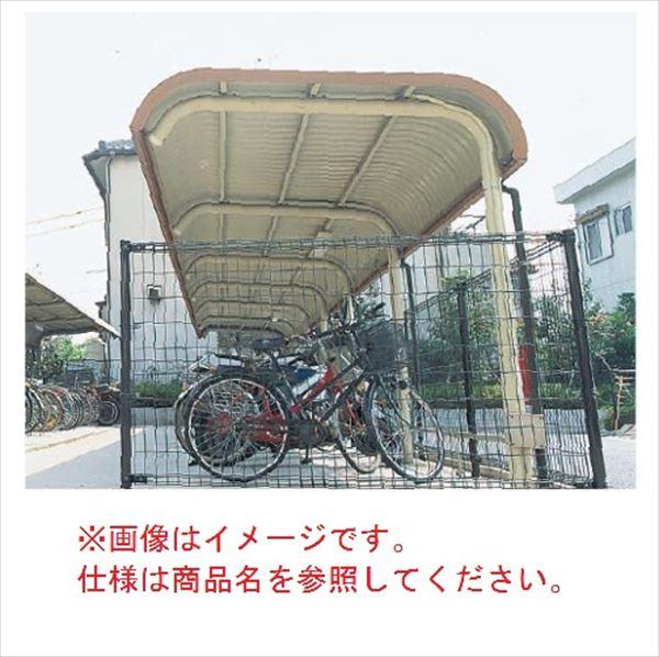 自転車置き場 ヨド物置 YOR-280BSA 追加棟(追加棟施工には基本棟の別途購入が必要です)  『公共用 サイクルポート 屋根』 ライトグレー