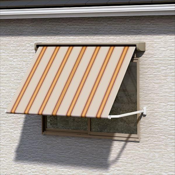 リクシル 彩風 ウィンドウタイプ リモコン式 間口 2730×出幅 1000 レッド系 ポリエステル レッド系
