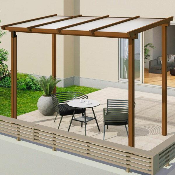 三協アルミ ナチュレ テラスタイプND型 独立納まり ロング柱 600タイプ 1.0間×4尺 関東間 単体TPDAA-C-6040 屋根:熱線遮断ポリカ板