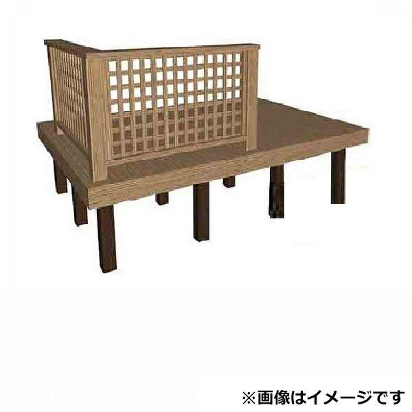 タカショー タンモクアッシュ デッキセット(根太・束柱アルミ仕様) 1間×10尺 無塗装