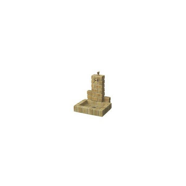 ニッコー 不凍水栓ユニット サナンド  立面:サークルタイプ パン:角型(PB) D-JX-PB-080 BY   【水栓柱・立水栓セット 蛇口 水受け付き 3点セット】 ブライトイエロー