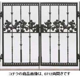 リクシル 新日軽 ディズニー門扉 角門柱式 ミッキーC型 0610 両開き 『リクシル』 ブラック