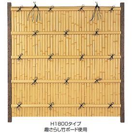 タカショー エバーバンブーセット エバー15型 60角柱(両面) こだわり竹セット 基本型(両柱) 【竹垣フェンス 柵】