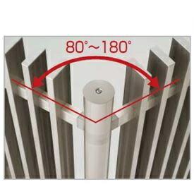 四国化成 エル パーテーションA1型 08:コーナー柱(角度80°~180°) H21用 08CP-21SC 【樹脂フェンス 柵】 ステンカラー