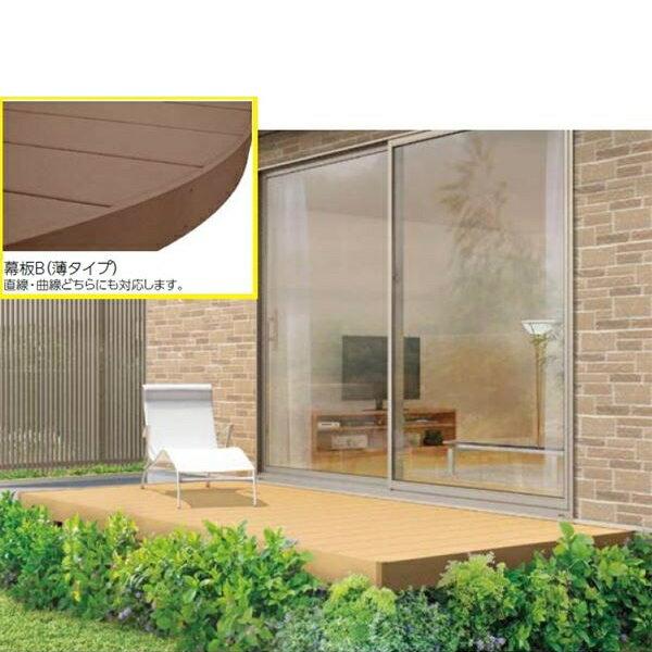 耐久性の高い樹脂デッキ リクシル TOEX 樹ら楽ステージ ロング束柱仕様 間口2.0間×出幅10尺 幕板B仕様 『束柱の色をご指示下さい』 『リクシル』 『ウッドデッキ キット 人工木』
