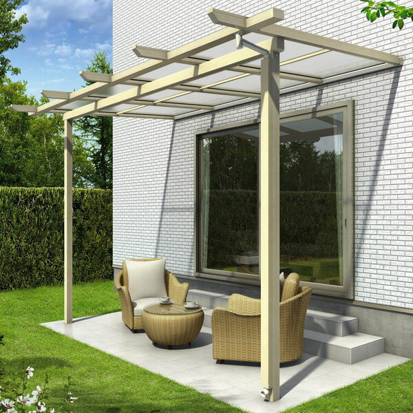 YKK ap サザンテラス パーゴラタイプ 関東間 600N/m2 4.5間×4尺 (3連結) ポリカ屋根