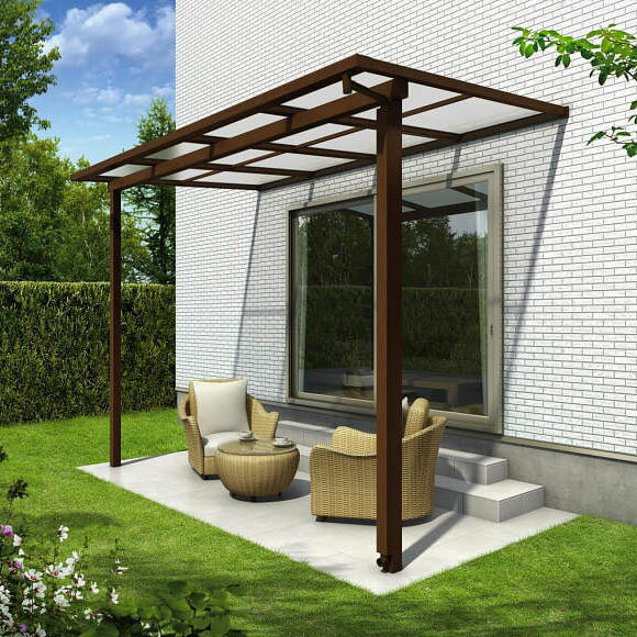 YKK ap サザンテラス フレームタイプ 関東間 600N/m2 4間×3尺 (2連結) 熱線遮断FRP板