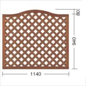 タカショー プロラフィードアーチパネル(M) W1140×H940/1020mm 【ラチス 木調フェンス 柵】