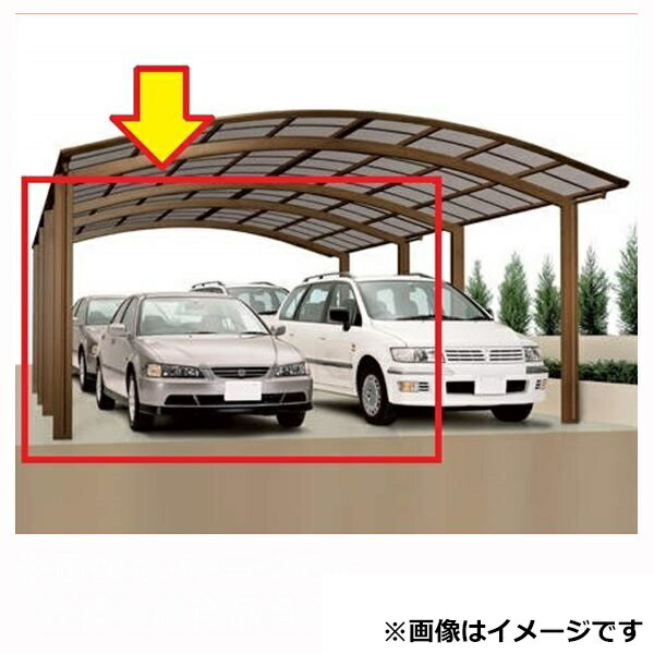 四国化成 バリューポート ワイド 縦連棟ユニット *基本セットの同時購入が必要 延高 ポリカーボネート板 4850 LVPNE-B4850 『アルミカーポート 自動車屋根』