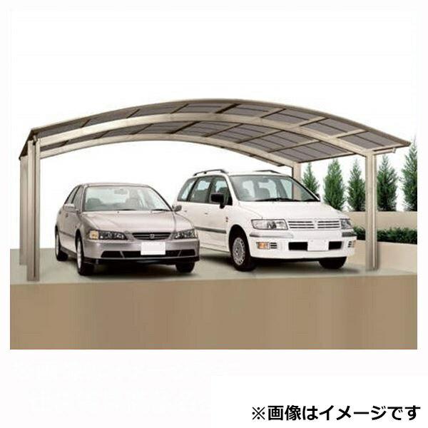 カーポート 2台用 四国化成 バリューポート ワイド 基本セット 延高 熱線吸収ポリカ板 4850 VPNE-K4850 『アルミカーポート 自動車屋根』