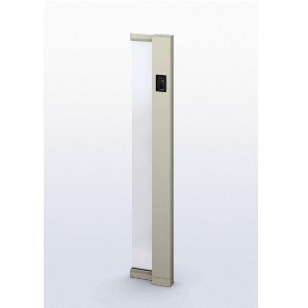 YKK ap ルシアス サインポール A01型 URC-A01 照明なし インターホン加工付き Rタイプ アルミカラー ※表札はネームシールとなります 【機能門柱 機能ポール】