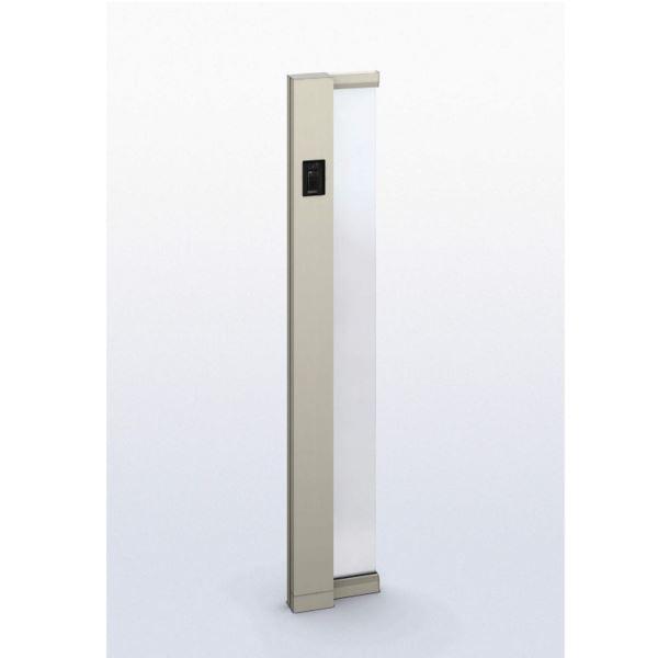 YKK ap ルシアス サインポール A01型 URC-A01 照明なし インターホン加工付き Lタイプ アルミカラー ※表札はネームシールとなります 【機能門柱 機能ポール】