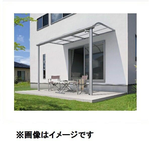 三協アルミ レボリューA 5.0間×7尺 600タイプ/メーターモジュール/1階用R型/出幅移動収まり/3連結 ポリカーボネート 『テラス屋根』