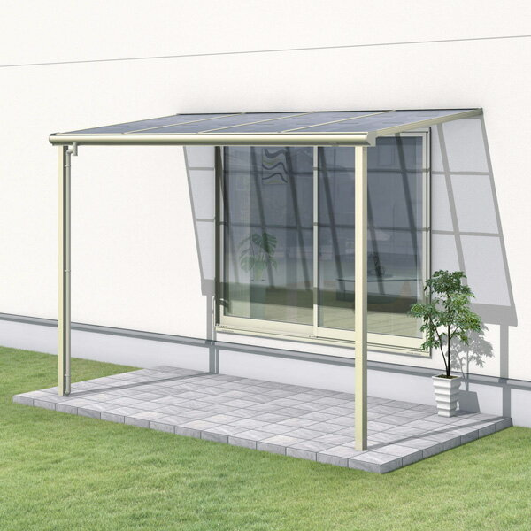 三協アルミ レボリューZ 4.0間×4尺 1500タイプ/メーターモジュール/1階用F型/標準収まり/2連結  『テラス屋根』 熱線遮断ポリカ
