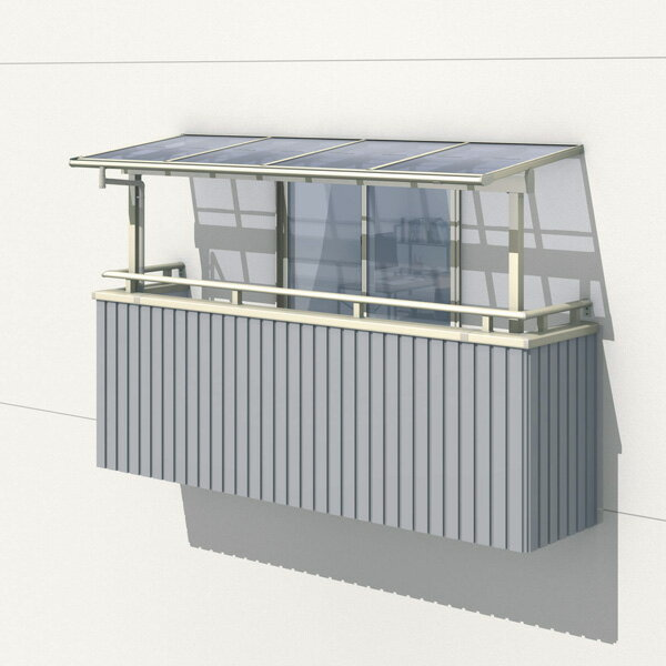 三協アルミ レボリューZ 3.0間×6尺 1500タイプ/関東間/2階用F型/出幅移動収まり/2連結  『テラス屋根』 熱線遮断ポリカ