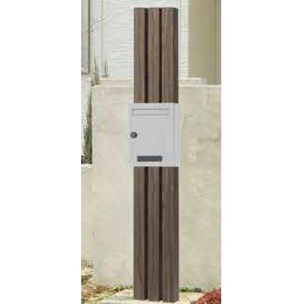 タカショー デザイン門柱 コラム ポスト付(ダイヤル錠付) 【機能門柱 機能ポール】