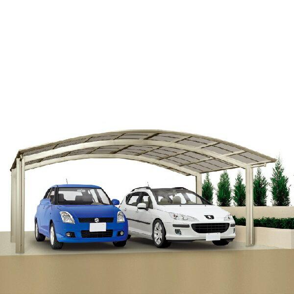 キロスタイル-IS モダンポートワイド76 2台用 4856 標準高 基本セット 熱線遮断・吸収ポリカーボネート板【アルミカーポート 自動車屋根】
