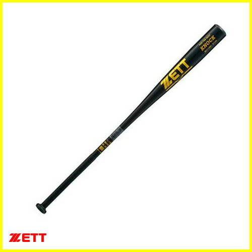 ★ZETT 金属製ノックバット BKT1091 ブラック(1900) 91cm/580g平均/Φ57mm 硬式・軟式・ソフト用【野球用品/送料無料】