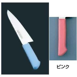 マスターコック 抗菌カラー庖丁 洋出刃(片刃) MCDK-240 ピンク(MCDK-240)<ピンク>( キッチンブランチ )