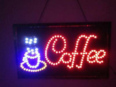 電子看板 Cafe LED照明 LEDライト  LED看板 店舗看板 LED照明 LEDライト 看板 コーヒー  オープン
