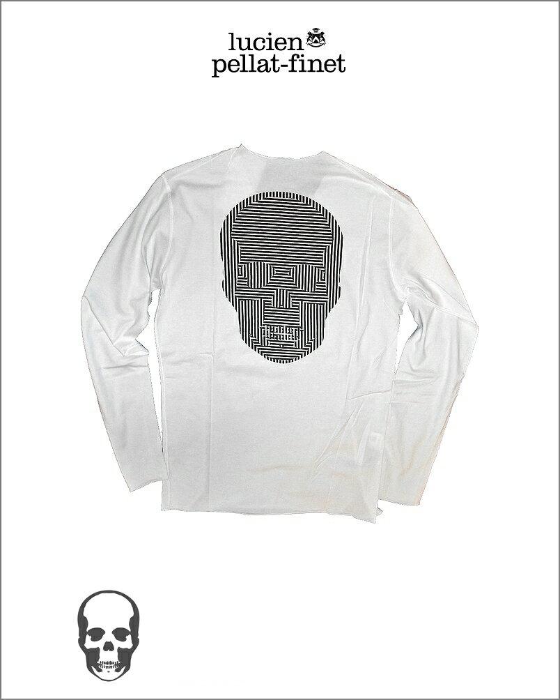 繝ォ繧キ繧「繝ウ繝壹Λ繝輔ぅ繝� 繧ェ繝励ユ繧」繧ォ繝ォ 繧ケ繧ォ繝ォ T繧キ繝」繝�lucien pellat-finet Skull Tshirt