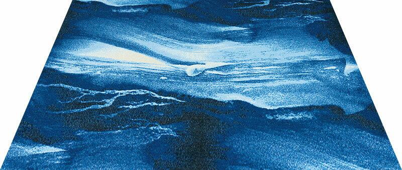 Office & Decor Blue  Marble  _フ゛ルーマーフ゛ル  120  x  160  cm玄関マット 屋内 室内 自然  Office&Decor オフィスマット ナチュラル エレガント 70種類 日本製 洗える 石 ストーン 青
