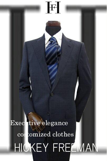 メンズ スーツ HICKEY FREEMAN ヒッキ-フリ-マン 秋冬物 ス-ツ ネイビー グレンチェック A4 A5 A6 A7 AB4 AB5 AB6