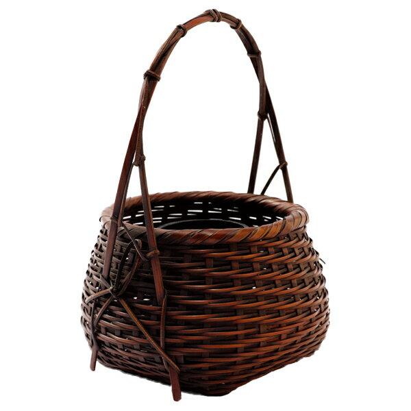 花器 生け花 竹かご 和風 オシャレ ギフト おすすめ 人気 竹製 豊南作なでしこ 60A-3526-HJ