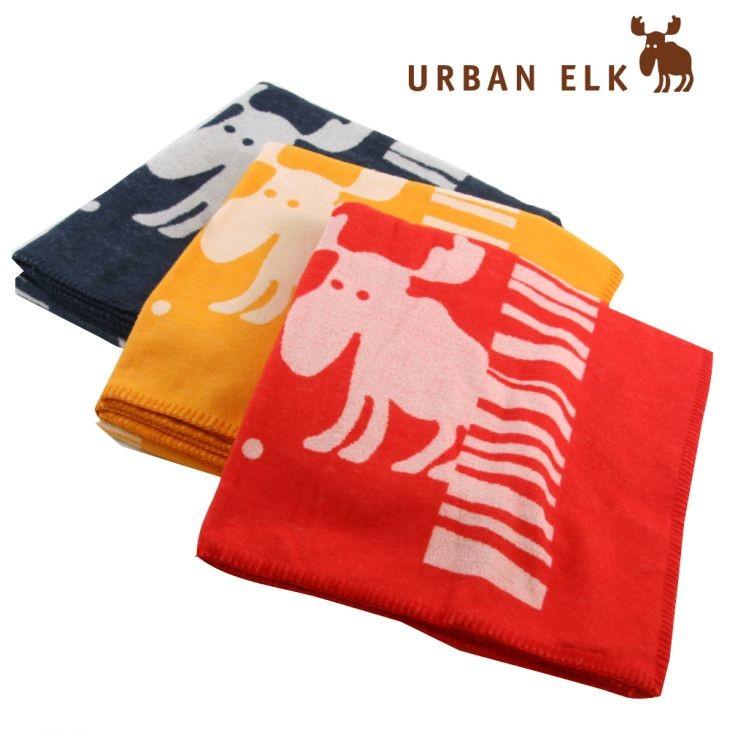 【あす楽】【送料無料】アーバンエルク 毛布とブランケットの2WAYで使いやすい、綿とウールで暖かい/ギフト対応