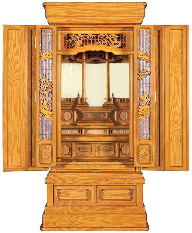 善言 紫檀調 18×43号 別台[唐木仏壇][別台仏壇][地袋型仏壇][伝統型仏壇][GS-1A]【送料無料】