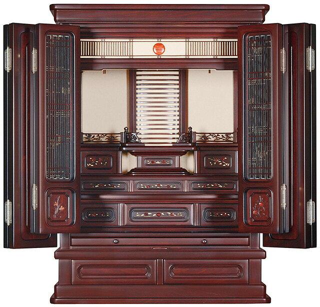 瑠璃 紫檀系 16×23号[唐木仏壇][ミニ仏壇][伝統型仏壇][流]【送料無料】
