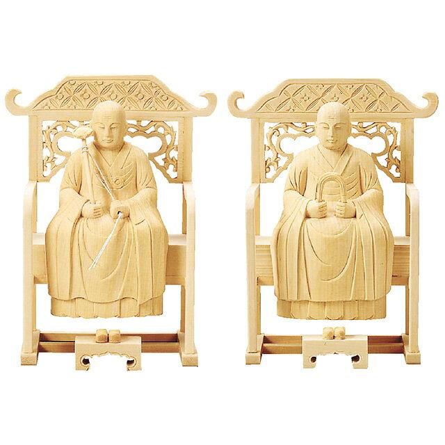 仏像『総白木 常済・承陽(太祖・高祖) 2.5寸』[曹洞宗]