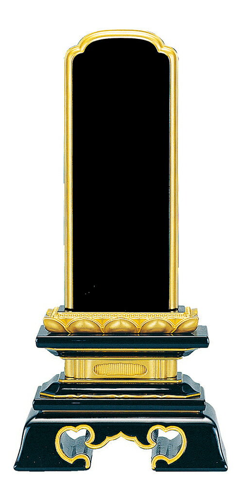 塗位牌『純面粉 勝美楼門 呂色 6.0寸』【送料無料】[漆位牌][漆塗り位牌][名入れ][文字彫り][戒名入れ][6寸][6.0号][6号]