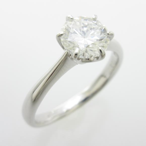 プラチナダイヤモンドリング 1.002ct・H・SI1・GOOD【中古】