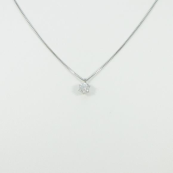 PT ソリティア ダイヤモンドネックレス【中古】