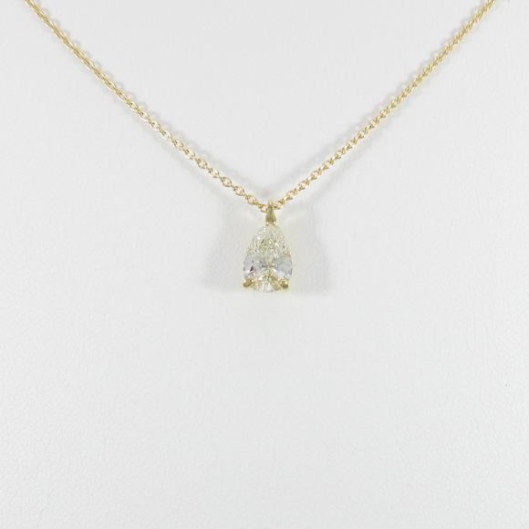 K18YG ダイヤモンドネックレス 0.700ct・K・SI2・ペアシェイプ【中古】