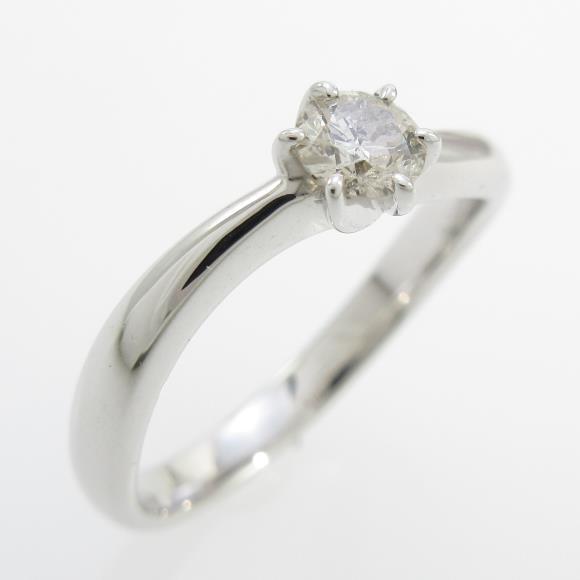K18WG ソリティア ダイヤモンドリング【中古】