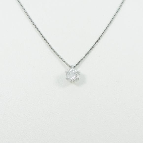 プラチナダイヤモンドネックレス 0.513ct・E・SI1・GOOD【中古】