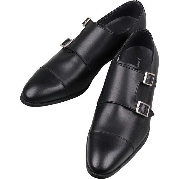 ジョンピアース シューズ ストラップ ブラック系 ストレートチップ コナカ  メンズ メンズシューズ ビジネス ビジネスシューズ 靴 紳士靴 革靴 レザー レザーシューズ 本革 スーツ 皮靴 メンズビジネス本革シューズ フォーマル フォーマルシューズ 仕事靴