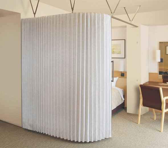 TOSO アコーディオンドア(アコーディオンカーテン) クローザーライト パウダー 幅201~225cm×丈211~220cm